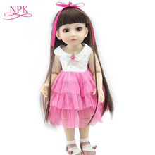 Hot selling Handmade BJD doll Lovely Fashion BJD Reborn doll 45cm 1/4 SD/BJD Joint dolls Long-haired girl Dollhouse Toys Gift hot sale sudoll doll 1 4 bjd handsome doll sd doll new arrival