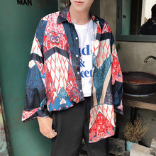 Spring New Men's Casual Shirt S-2XL Youth Fashion Wild Print Color Matching Personality Loose Cotton Long Sleeve Thin Section publishing hardpress publishing hardpress publishing old new zealand a tale of the good old times