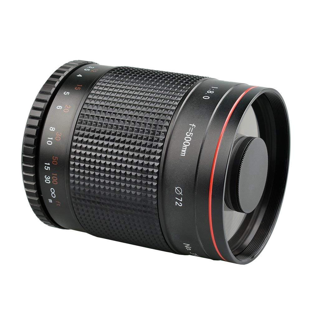 Meilleures Offres Lightdow 500mm F/8 Téléobjectif Lentille Miroir Pour Canon Rebel Eos 80D 77D 70D 60D 50D 7D 6D 5D 5Ds 1Ds T7I T7S T7 T6S T6I