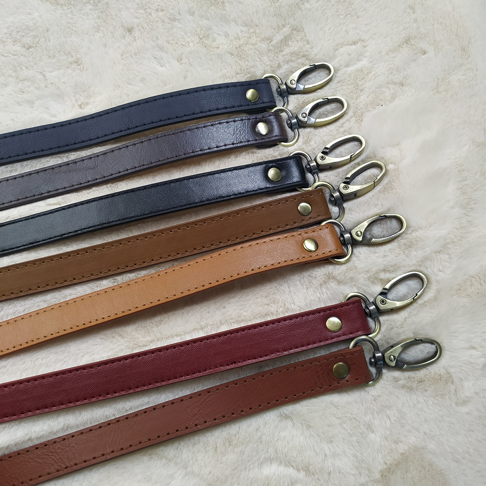 120cm Adjustable Bag Strap Handbag DIY Handle PU Leather Shoulder Bag Strap Belt Buckle Fashion Shoulder Crossbody Bag Belts in Bag Parts Accessories from Luggage Bags