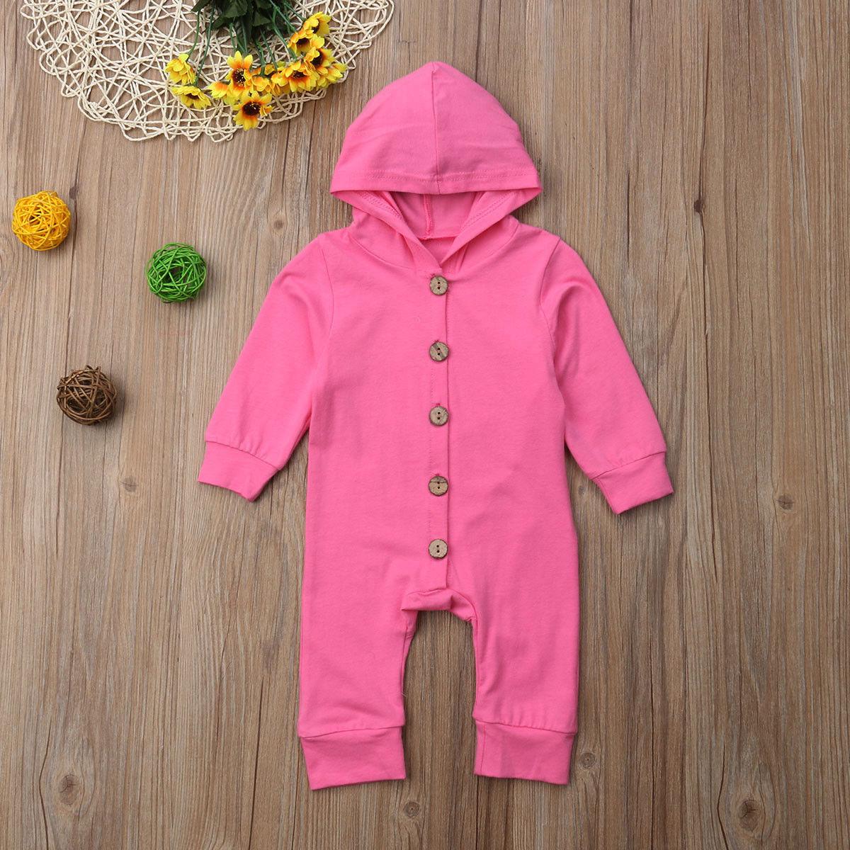 0-2 T Infant Baby Junge Mädchen Hoodie Baumwolle Mit Kapuze Romper Overall Kleidung Outfit Ca Blut NäHren Und Geist Einstellen