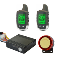 Power Saving Super Long Two Way Remote Engine Start Motorcycle Security Alarm System With 2 LCD Status Indicator Transmitters