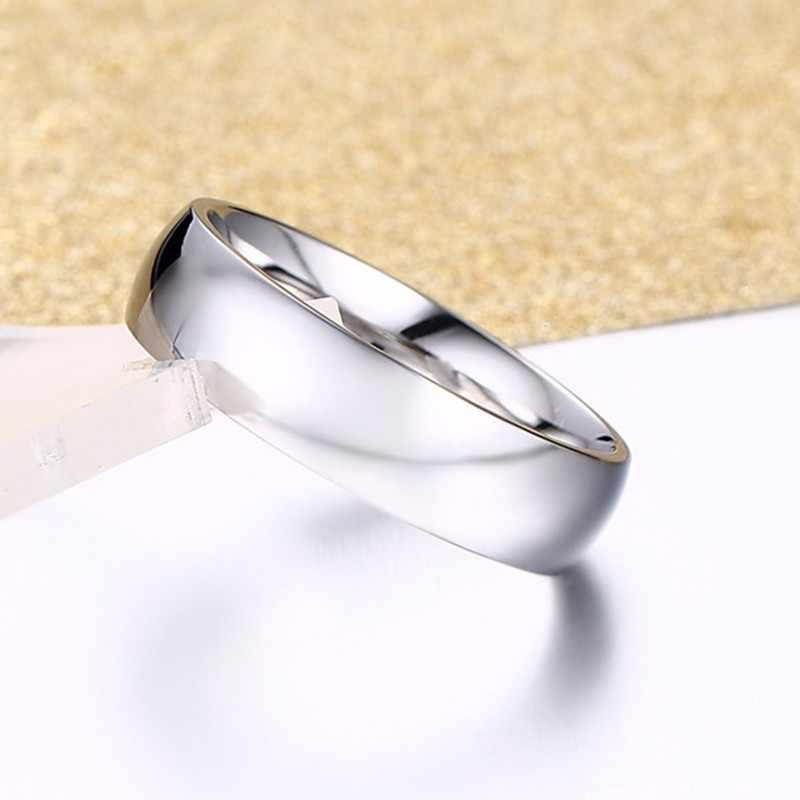 Vnox Бесплатная гравировка персонализированное именное кольцо для женщин и мужчин 6 мм нержавеющая сталь обручальное кольцо классический Alliance