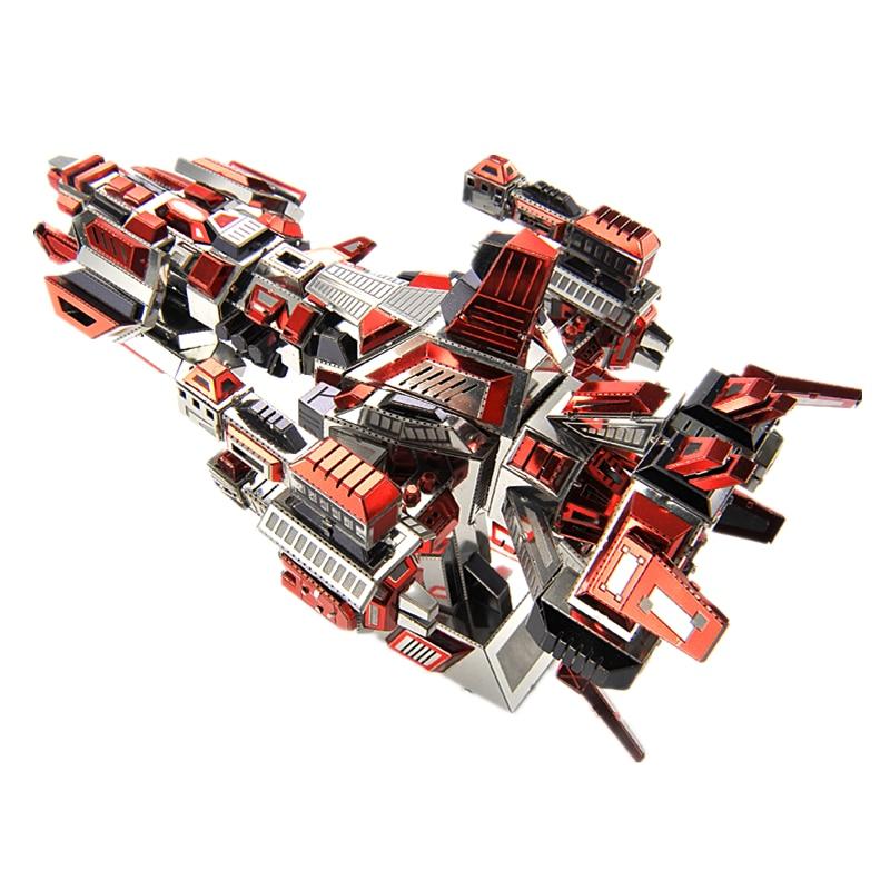 MMZ MODEL Microworld Flaming Spaceship 3D Metal Puzzle DIY Assemble Model Kits Laser Cut Jigsaw Building