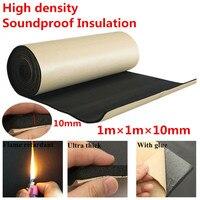 10mm Soundproof insulation foam Mat Black Car Sound Control Mat Automotive deadener Wall|Sound & Heat Insulation Cotton| |  -