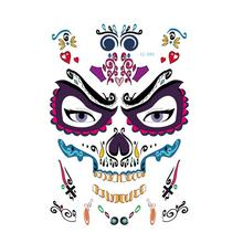 12 Sheets Tattoo Sticker Adults Halloween Waterproof Children Temporary Stickers Decal for Costume Party