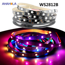 Alamat Lampu LED Strip 5 V 1 M 4 M 5 M Ws2812 Ws2812b 30 60 144 Pixel/m Ws2812 Di 5050 Smart Addressable RGB LED Strip Lampu(China)