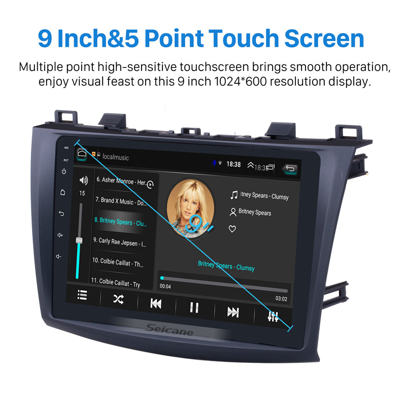 Image 3 - Seicane 9 Inch Android 8.1 Car Radio For 2009 2010 2011 2012 MAZDA 3 GPS Navi Wifi 3G Multimedia Player Head Unit Auto Stereo-in Car Multimedia Player from Automobiles & Motorcycles