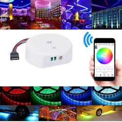 RGB светодио дный светодиодный контроллер, Bluetooth RGB/RGBW светодиодные полосы света контроллер DC 12-В 24 в мини-контроллер для iOS или Android