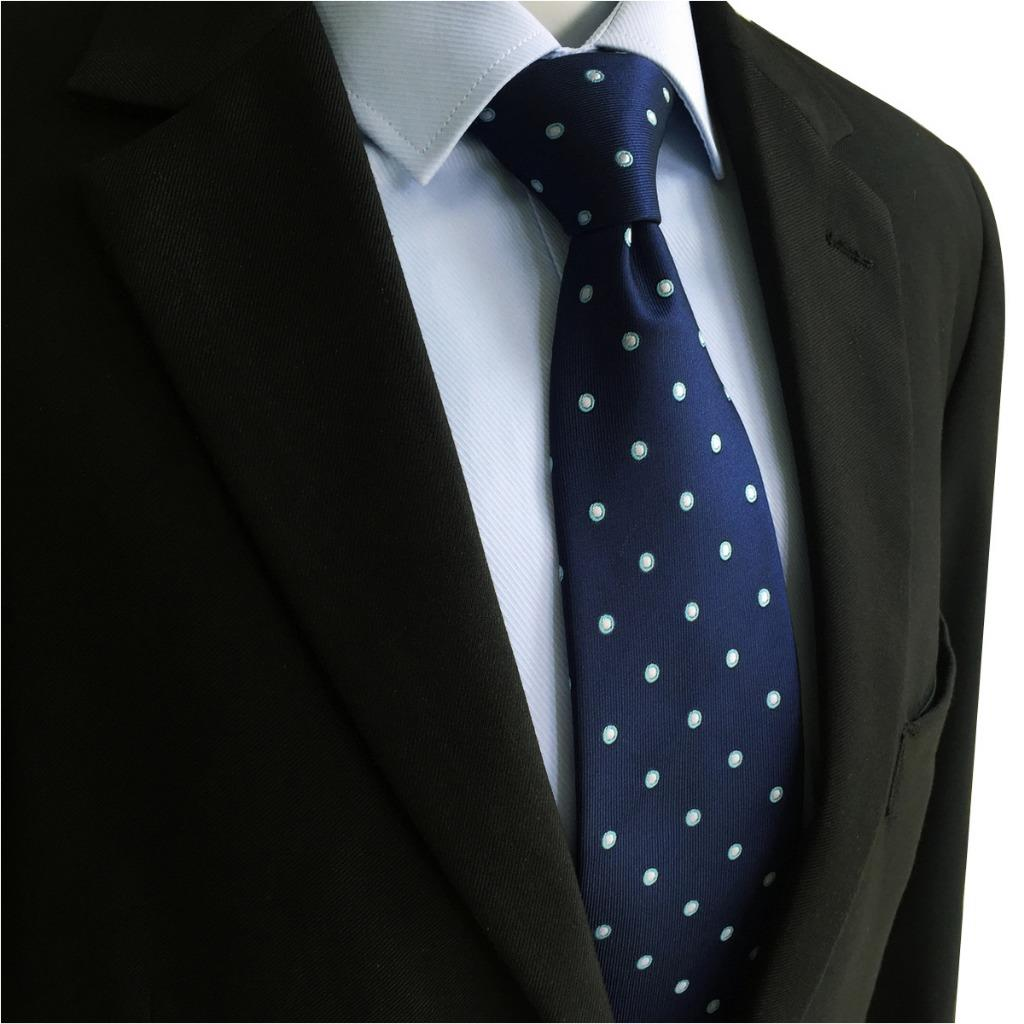 Navy Polka Dots Silk Men Neckties Set Dress Designer Wedding Fashion Pocket Square X long in Men 39 s Ties amp Handkerchiefs from Apparel Accessories