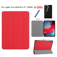 Case For iPad Pro 11 Cover Funda Tablet Model A1980 New inch 2018 Ultra Slim Folding Stand Shell+Film+Stylus
