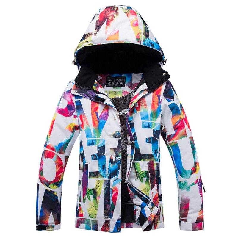 Super vente-vestes de Ski de la reine arctique veste de snowboard femme vêtements de sport d'hiver veste de Ski de neige respirant Waterproo