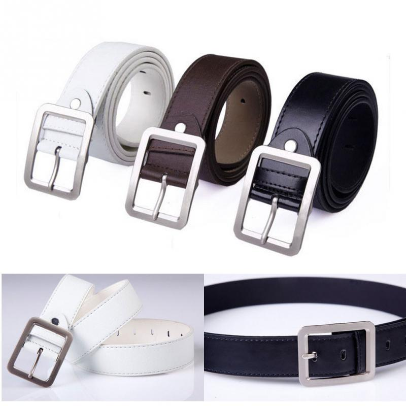 2019 Fashion Male Belt Buckle Square Shape Imitation Luxury Leather Upscale PU Belt For Men Strap Metal Automatic Buckle