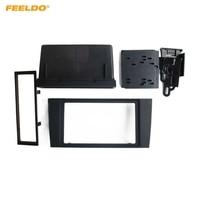 FEELDO 2Din Car Stero CD/DVD Radio Frame Fascia for Audi A4 2000 2004 Dash Panel Face Plate Bezel Trim Mount Kit #HQ1996
