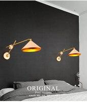 American Vintage Iron Loft Industrial Wall Lamp Indoor Lighting Bedside Swing Arm Sconce For Home 110v/220v E27 Edison Bulb