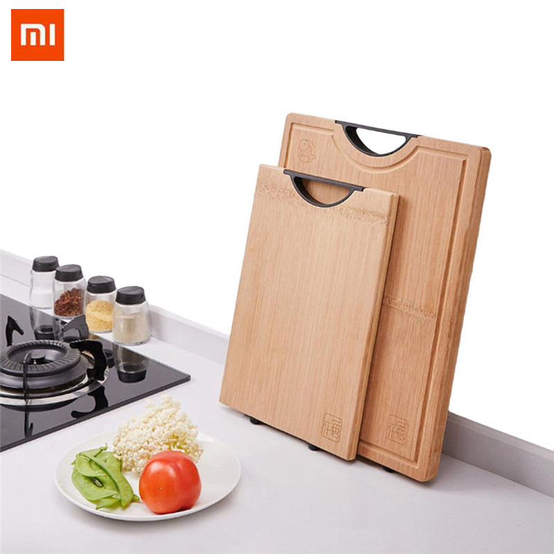 Xiaomi Yiwuyishi bamboo cutting board Kitchen Thick Cutting Board Vegetable Meat Tools Kitchen Accessories chopping board S,L(China)