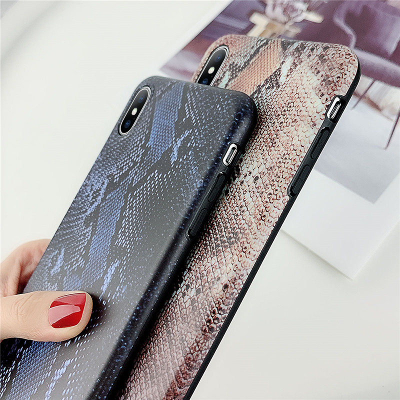 Lovebay Art Print Terror Coque Shell Sexy Snake Skin Animal Patterned For iPhone 6 6S 7 8 Plus X XR XS Max Shell Soft Phone Case