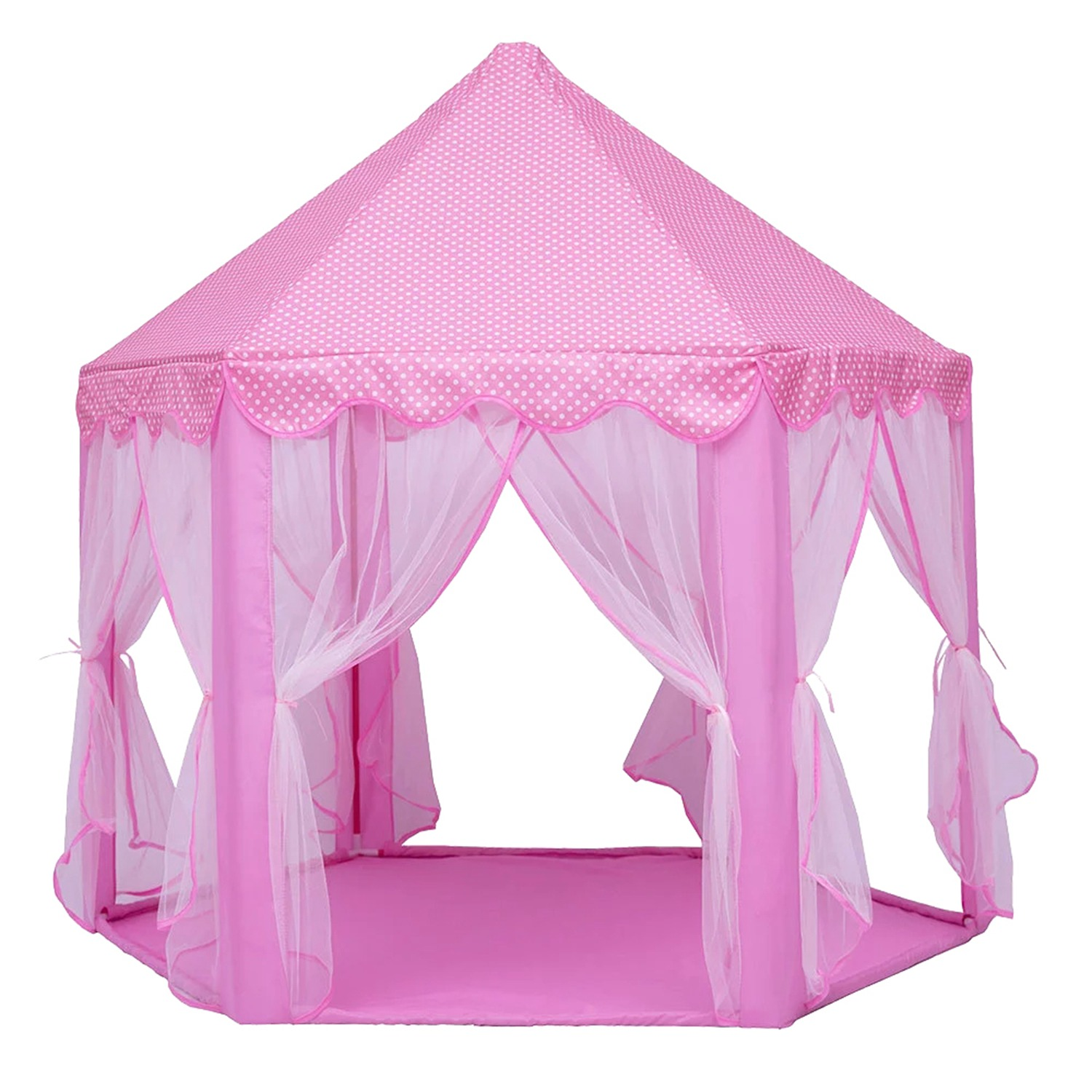 Play Fairy House Indoor And Outdoor Kids Play Tent Hexagon Princess Castle Playhouse For Girls Funny Dolls Mongolian Tent
