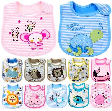 Postal (Peut Choisir Les Modèles) bavoir pour bébé Dokis Trois Couches Enfants bavoir résistant à l'eau Bib Salive Un Morceau De Tissu Paquet Postal