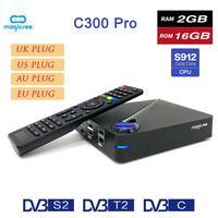 Magicsee C300 PRO Set top Box Android 7.1 DVB S912 HD Set top Box Network Player TV BOX Bluetooth V4.0 DVB T2 4K / 2K Player