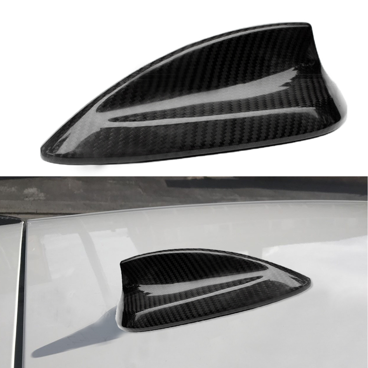 Universal Car Real Carbon Fiber Roof Shark Fin Aerial Antenna Sticker For BMW 1 2 3 4 Series F20 F22 F23 F30 F31 F32 F34 F35 F80