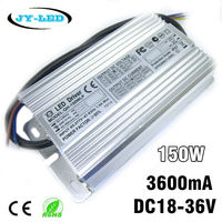 10pcs 150W High Power LED Driver 3600mA DC18 36V High PF 8 10 Serise * 12 Parallel Watperproof IP67 Aluminum Power Supply