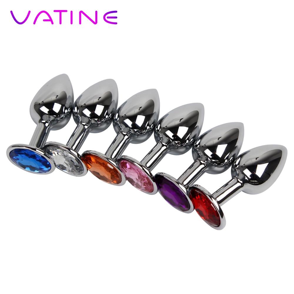 Vatine Diamond Sex Toys For Women Men Gay Stainless Steel -1450