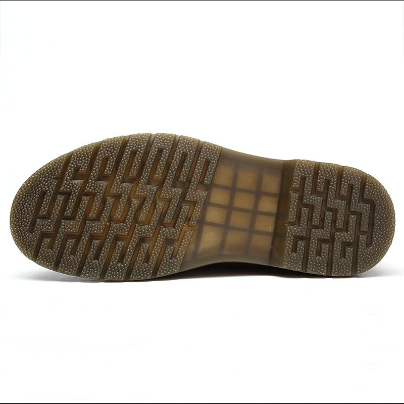 Shoesmen 47 De Qualidade Homem Botas Outono Homens Trabalho dark Alta brown 38 Martin Couro Inverno Sapatos Brown Dos Black E Baixo Top Tamanho Neve Das qd84Rd