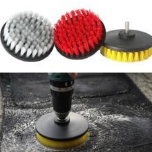3 Pcs/Set Electric Drill Brush Bristle Cleaning Head for Car Tile Grout Bathroom Carpet Floor WXV Sale