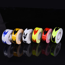 5cm*45m/roll Arrow Reflective Stickers Adhesive Tape Car Truck Bike Safety Warning Strip Traffic