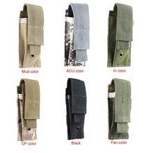 Pochette militaire à système Molle, sac tactique simple avec clips,étui étanche en support de ceinture, tissu Oxford pour magasins de pistolet,