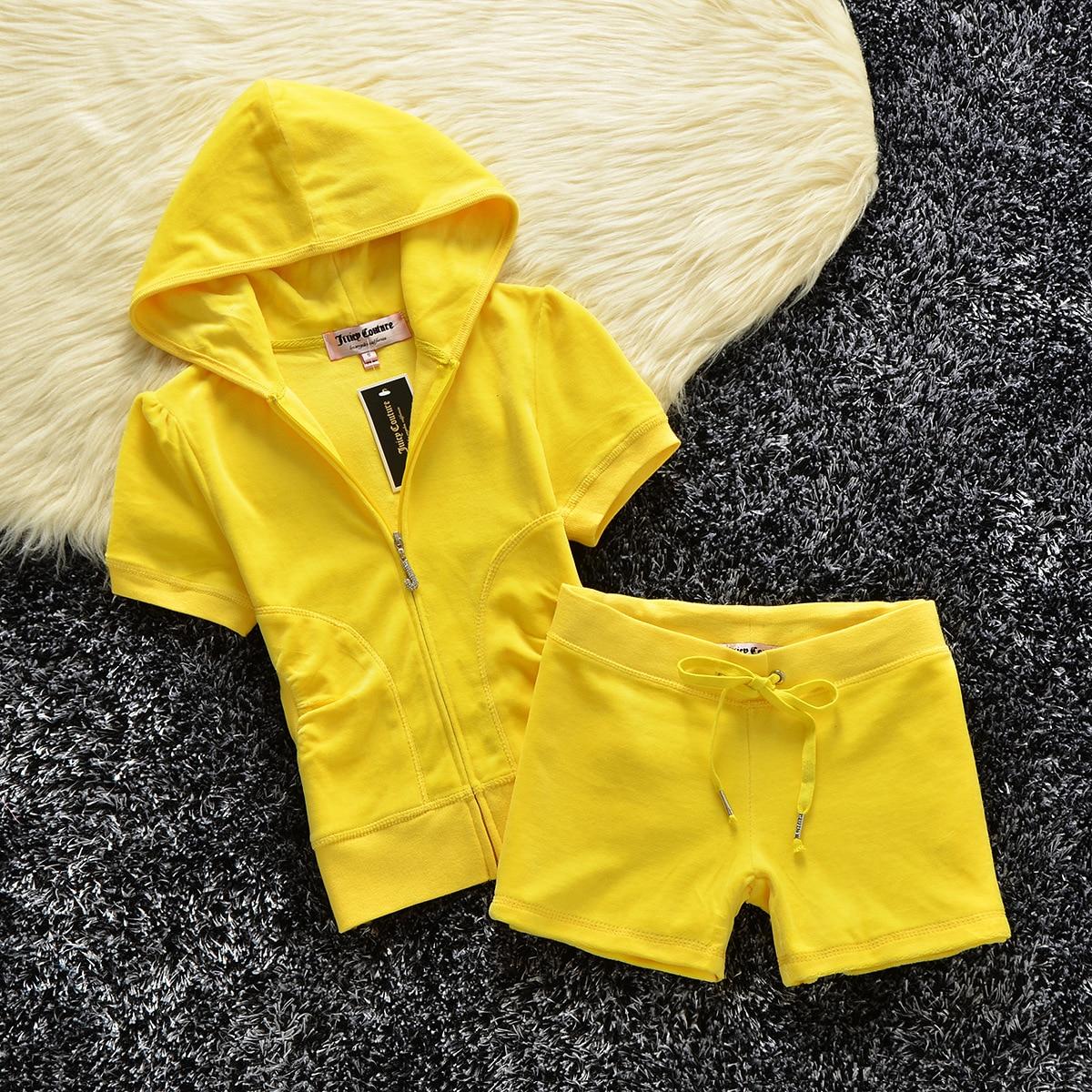 外国貿易ハイエンド夏のファッションスポーツウェアクラウンドリル半袖スーツオフィスレジャー女性の装飾ボディ  グループ上の レディース衣服 からの レディースセット の中 1
