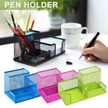 Многофункциональный настольный органайзер черная металлическая сетка для стола стиль офисный держатель для карандашей и ручек контейнер ...