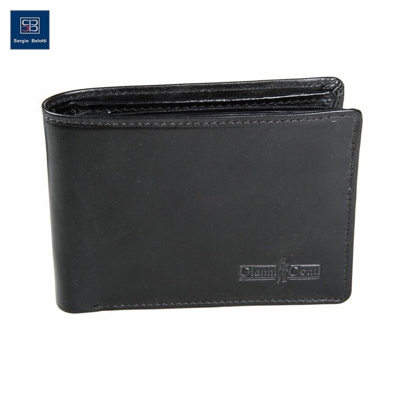 Coin Purse Gianni Conti 907041 black aim vintage knitting pattern black wallets men brand design genuine leather wallet fashion credit card holder price coin purse