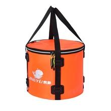 4 style składane wodoodporne wiadro wędkarskie torba wędkarska ochrona ryb beczka przenośna okrągła torba rybna Eva (kolor pomarańczowy i niebieski)