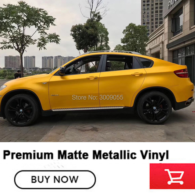 US $97 0 |hornet yellow Matte Metallic pearl metal yellow Wrapping film  Outdoor life: 3 years when followed rules of application and use-in Car
