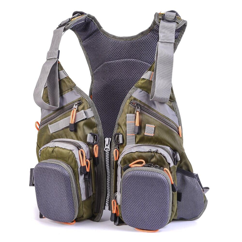 Mesh Fly Fishing Vest Backpack Men Breathable Outdoor Fishing Vest Jacket Safety Waistcoat Survival Utility Vest