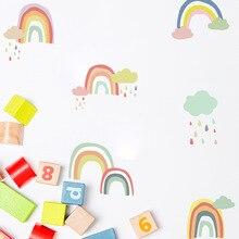 Funlife DIY радуга украшения дома Стикеры s Nordic Ins Стиль макет детский сад классе Детская комната ПВХ искусства стены Стикеры