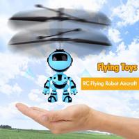 RC Hand Inductive Flying Robot Kid's Flying Ball Mini LED Drone Helicopter Aircraft Hand Infrared Induction Kids Light up Toys|RC Helicopters| |  -