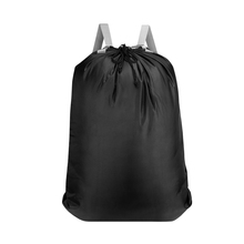 1pc Laundry Bag Large Capacity Adjustable Drawstring Waterproof Clothing Bags Luggage Backpack for Hotel Hospital Apartment