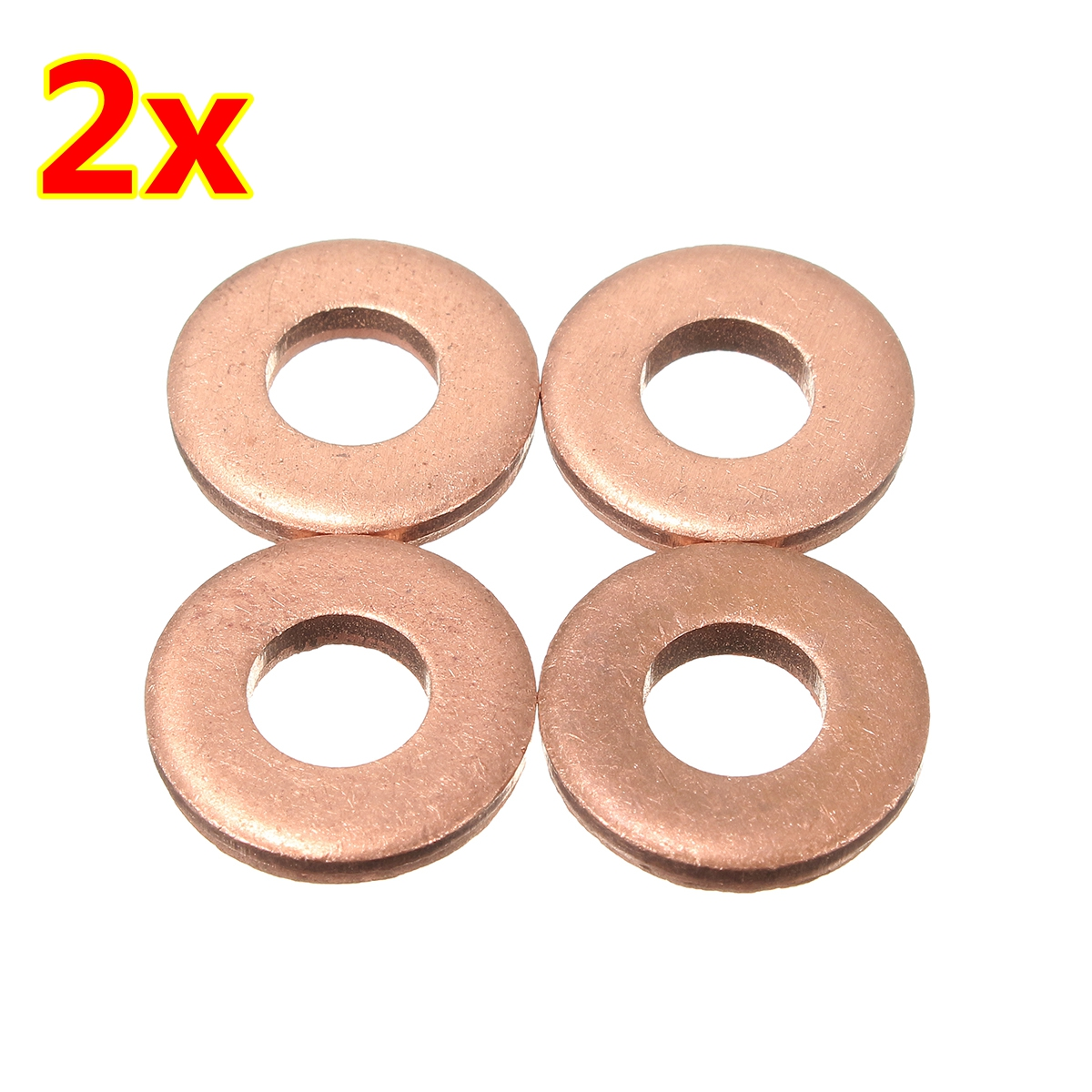 4pcs/8pcs  Injector Copper Washer Seals O-Ring For Peugeot / Citroen 1.6 HDI - 198173