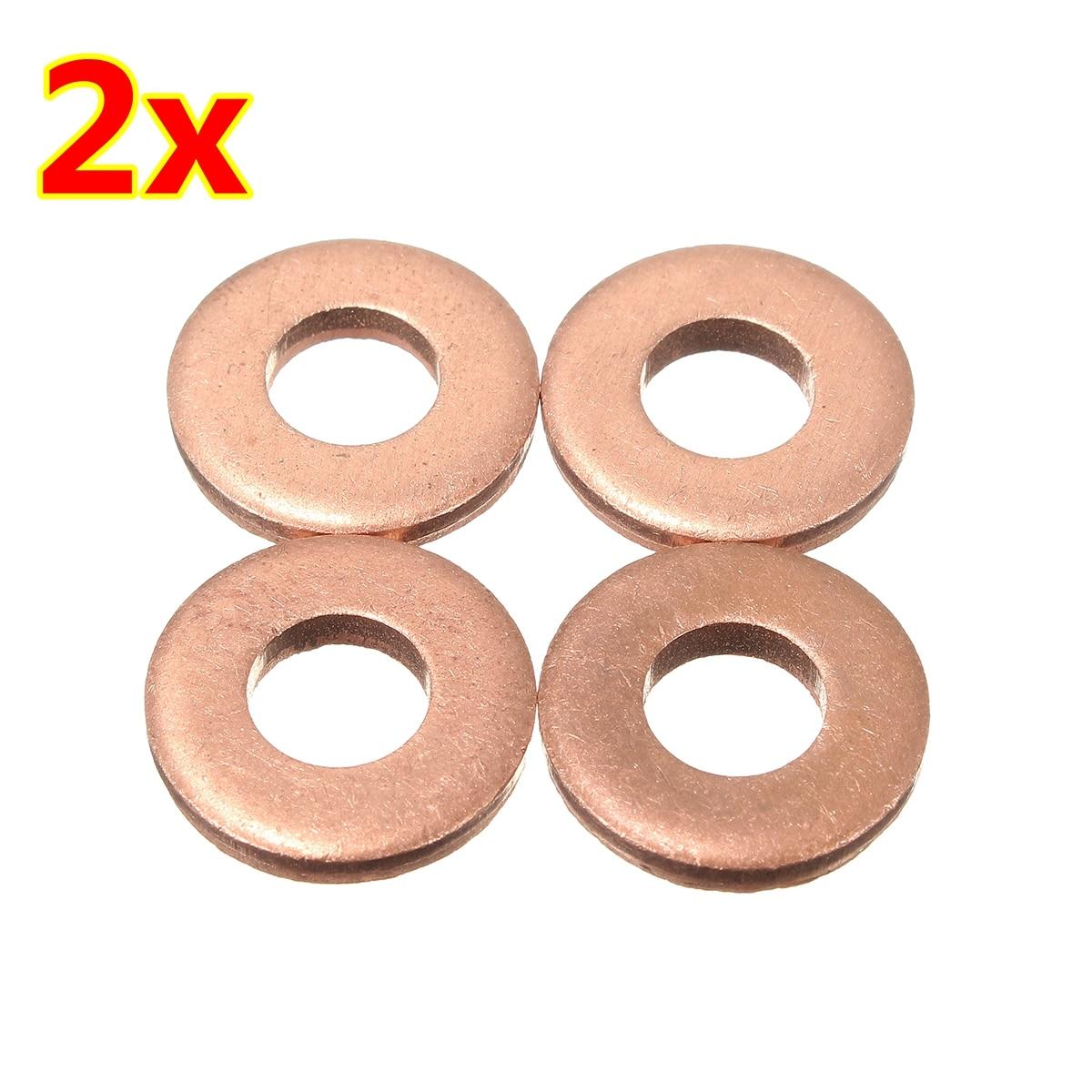 4pcs/8pcs  Injector Copper Washer Seals O-Ring For Peugeot / Citroen 1.6 HDI - 198173
