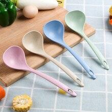 Кухонные принадлежности из пшеничной соломы, обеденный совок, половник суповая ложка, посуда с длинной ручкой, столовая посуда