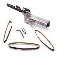 Air Belt Sander Angle Grinding Machine with Sanding Belts for Air Compressor Sanding Pneumatic Tool Set