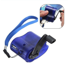 Hand Crank Power Dynamo USB Charger Outdoor Emergency Portable Low Universal