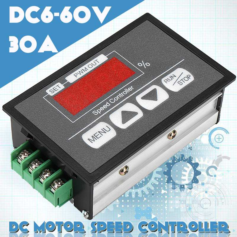 100% Quality 1 Pc Dc Brushed Motor Speed Controller Motor Governor 6-60v 10a Automatic Cw/ccw Rotation Regulator Speed Regulator Products Are Sold Without Limitations Home Improvement Electrical Equipments & Supplies
