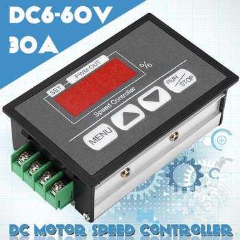 Regulowany 30A PWM 6-12V regulator obrotów silnika dc moduł DCLED wyświetlacz cyfrowy regulator prędkości regulacja mocy gubernator przełącznik tanie i dobre opinie Silnik prądu stałego DC6-60V 0-30A DC brushed 96*61*34mm