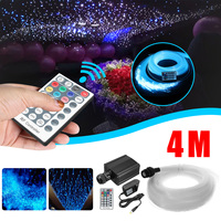 28 Key Wireless RF LED Fiber Optic Twinkle 16W RGBW Engine 4mx0.75mmx250Pc+15x1mm+Crystal Optical Fiber Starry Sky Ceiling Light