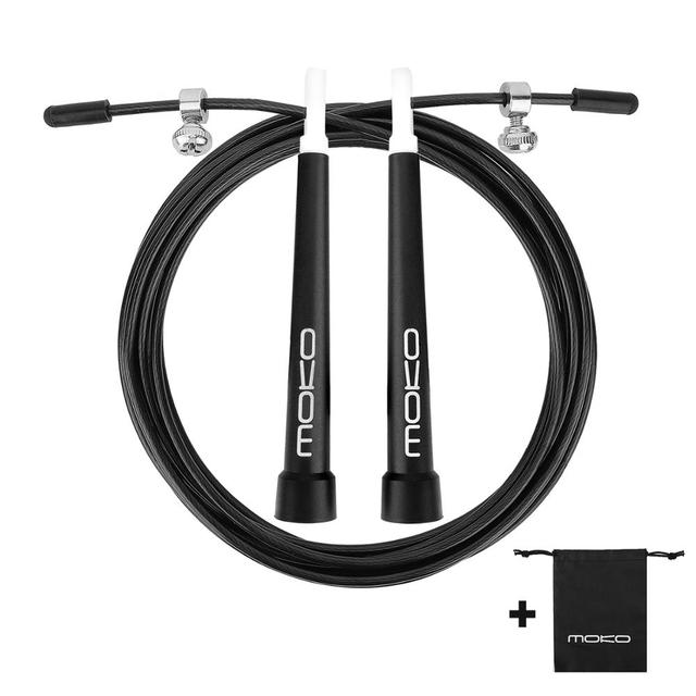 MoKo Speed Jump Rope, Premium Adjustable Professional Cross Training Gym Jumping Skipping Rope, Perfect for Home Outdoor Workout