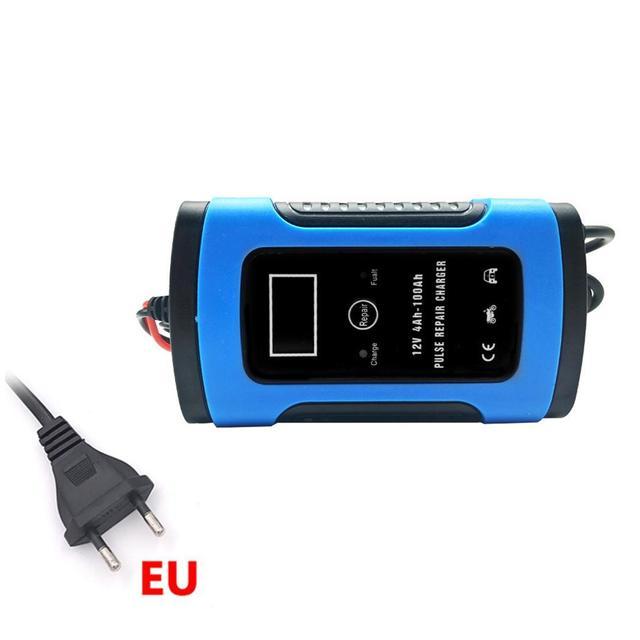 Cargador de batería de coche rápido inteligente LCD 12 V 6A para baterías de GEL AGM de plomo de motocicleta 12 V voltios 6 AMP